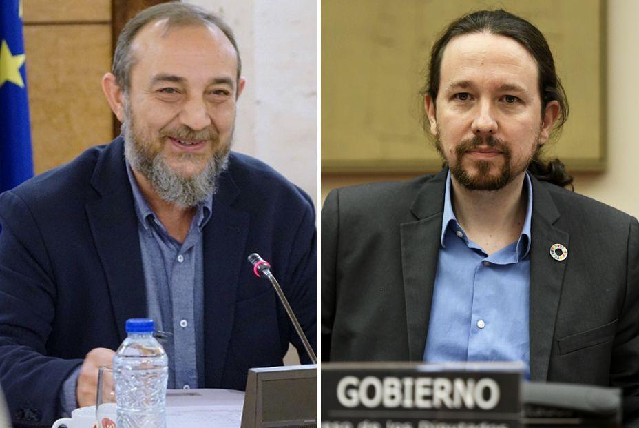 Luis Alberto Barriga y Pablo Iglesias
